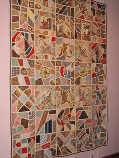 Antique Tile Quilt.  Busy Thimble: Charm Quilts #6 and Triangles