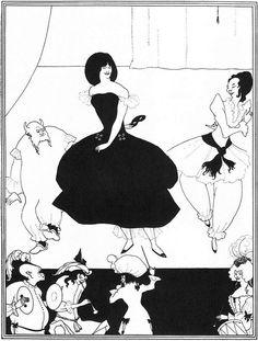 Ballet of Marionettes II.  Aubrey Beardsley.