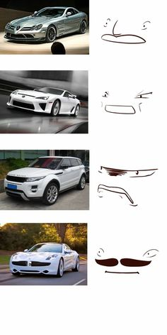 made some car faces. -  - #CarsandMotorcycles