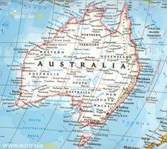 Detailed Travel Map of Australia | Maps