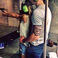 Asher teaches Lia to use a gun when the war gets really bad. Up until then, she had hated guns because of something from her past, but finally decided she would need to know just in case.