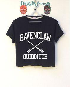 Kurzes Oberteil mit Harry Potter RAVENCLAW QUIDDITCH ist