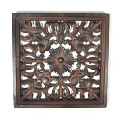 Found Object Idella Indian Wooden Panel Wall Decor
