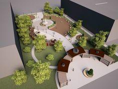 Public park and urban spaces Publicpark urbanspaces urbanlandscape is part of Landscape architecture - Villa Architecture, Landscape Architecture Model, Landscape Model, Landscape Design Plans, Landscape Concept, Green Architecture, Concept Architecture, Urban Landscape, House Landscape