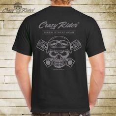 Biker T-Shirt Crazy Rider®  Biker Streetwear Shop