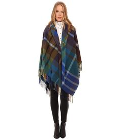 Vivienne Westwood Tartan Cape Poncho Navy - Zappos.com Free Shipping BOTH Ways