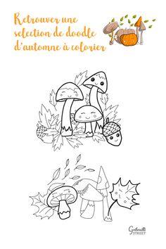 10 petits doodles à colorier sur le thème de l'automne #coloriage #automne