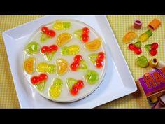 Haribo Gummy Imitation Fruit No Bake Cheesecake ハリボーグミをのせた なんちゃってフルーツなレアチーズケーキ…