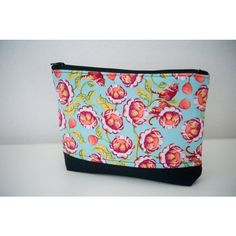 Colorful Flower zippered pouch (€21) ❤ liked on Polyvore featuring bags and wallets