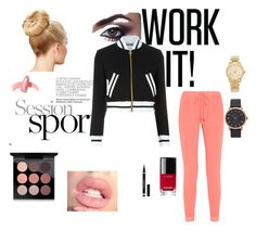 """""""Let's Workout"""" by beautiful-escape ❤ liked on Polyvore featuring Splendid, Moschino, Michael Kors, Marc Jacobs, Yves Saint Laurent, Chanel, Elizabeth Arden and MAC Cosmetics"""