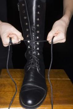 Leather boots that extend to the calf and beyond come in a variety of shapes and styles for both men and women. But if you're having trouble pulling up your brand new riding boots or it's painful zipping  your stiletto knee-high stunners,  explore some clever calf-stretching techniques.