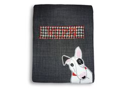 Hand made unique tweed appliqued bully dog by Jillygriffindesigns Bully Dog, Bull Terrier, Tweed, My Etsy Shop, Cufflinks, Ipad