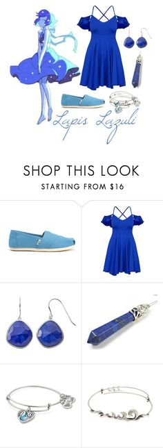 """Lapis"" by silvermist20 ❤ liked on Polyvore featuring Lazuli, TOMS, Alex and Ani and silvfashionsets"
