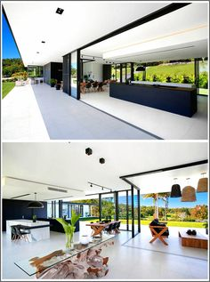 Modern Architecture Discover See Inside The Home This Architect Designed For Her Own Family The main living area of this home is open to the backyard with large overhangs providing shade for the interior important for those hot Australian days. Modern Architecture House, Modern House Design, Minimalist Architecture, Küchen Design, Design Case, Design Ideas, Edge Design, Skylight Design, Interior Minimalista
