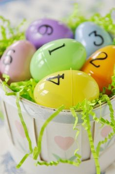 Easter Egg Scriptures - plus the idea of the Easter Bunny visiting on Saturday instead of on Resurrection Sunday - hmmm, food for thought for the near future!