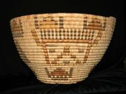 Spectacular Pre-1920's Native American Hopi Basket with Kachinas!