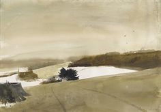 Andrew Wyeth - Tracks at Kuerners (1995)