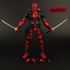 Cheap figure toy, Buy Quality action figure toys directly from China justice league Suppliers: Red In Stock The Avengers Super Hero Justice league X-MAN Deadpool Action Figure Toys Collection Model With Retail Box Deadpool Gifts, Deadpool Movie, Toys For Boys, Kids Toys, Deadpool Action Figure, Cartoon Toys, Superhero Movies, Figure Model, Comic Book Heroes