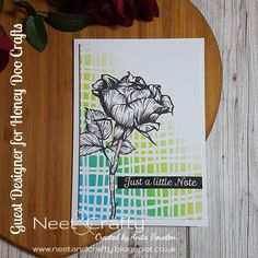 Neet & Crafty: Guest Designer for Honey Doo Crafts - Selection One Daffodil Images, Honey Doo Crafts, Cloud Stencil, Rose Stem, Clouds Pattern, Strongest Glue, Distress Oxide Ink, Glue Dots, My Stamp