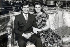 Engagement photo of The Prince Andrew and Sarah Ferguson.