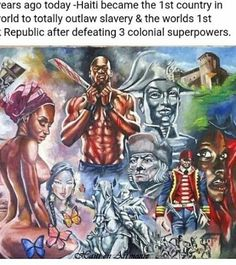 haiti, haitian, and zoe image Black History Books, Black History Facts, Black History Month, Haitian Flag, Haitian Art, Haiti History, Ancient History, African History, African Art