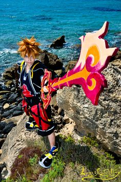 Dragon's Flame :--- Sora CosPlay ---:  by *Laurelin-CosPlay  Photography / People & Portraits / Cosplay	  Me,  as Sora from Kingdom Hearts 2