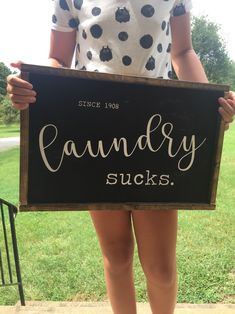 Laundry sucks laundry room laundry signs home decor laundry wall decor funny signs must have Beautiful Compliments, Oil Based Stain, Office Wall Decor, Entryway Decor, Laundry Signs, Holiday Signs, Home Decor Kitchen, Decorating Kitchen, Diy Kitchen