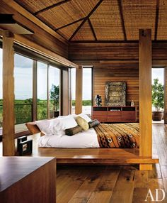 Exotic Bedroom by Bonetti/Kozerski Studio and Cheong Yew Kuan in Parrot Cay, Turks and Caicos Islands