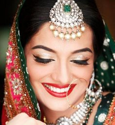 Indian bridal makeup looks inspiration 9