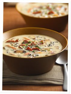 Wild Rice and Turkey Bacon Soup.  Did you know wild rice is gluten free?