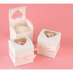 Heart Window Cupcake Boxes   Invitations By Dawn