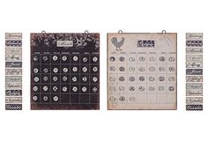 Fun, versatile and it keeps track of you!  Metal Calendar w/ Magnets Set on One Kings Lane