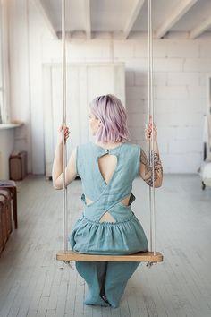 Pastel croisées dos Linen Dress, robe d'été, robe en lin, rose Pastel, robe Pastel robe verte, robe jaune, ouverte au dos, fait à la main