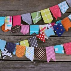 """""""scrappy bunting"""" by @lindsey cheney"""