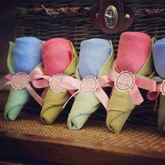 Rose origami by 100% cotton handkerchief, Handmade from Chiangmai, THAILAND. For more details : http://talentfavors.com or follow me via http://instagram.com/talentwedding #weddingfavors#handmade