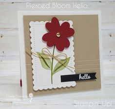 Carussell Crafts: Colour Creations Week 10 - Cherry Cobbler Fun Fold Cards, Folded Cards, Cherry Cobbler, Flower Center, Glue Dots, Stampin Up, Christmas Cards, Birthdays, Bloom