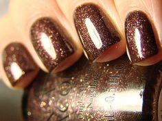 Sparkly bronze nail polish