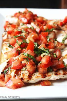 Grilled Chicken Breast Bruschetta - Busy But Healthy