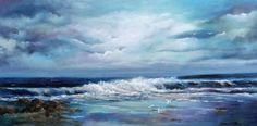 Spectacular Seascapes off the Coast of Ireland: The Wild Atlantic Way - Vast, rugged, untamed shores! This is where land and sea collide and the undulating waves beat a rhythm to the shore. Waves, Sea, Fine Art, Beach Paintings, Artist, Outdoor, Image, Outdoors, Artists