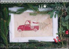Oh Christmas Tree is the title of this cross stitch pattern from Madame Chantilly.