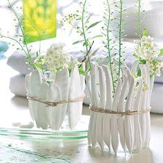 DIY déco : mouler des légumes en plâtre pour faire des vases - Marie Claire Idées