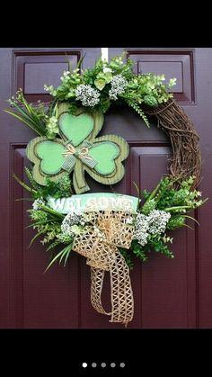 Saint patricks day wreath