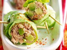 Thunfisch-Avocado-Salatröllchen - - Thunfisch-Avocado-Salatröllchen Source by dsanchezantonet High Protein Recipes, Healthy Dinner Recipes, Healthy Snacks, Healthy Eating, Cooking Recipes, Avocado Salat, Tuna Avocado, Love Eat, Fruits And Veggies