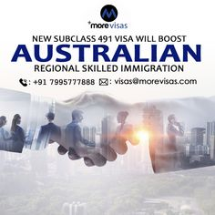 The subclass 491 visa, which is the latest points-based visa launched by Australia substituting a subclass 489 visa  #AustraliaImmigration #AustraliaPR #WorkinAustralian #SkilledRegionalVisa #SkilledWorkerProgram #MoreVisas Australia Immigration, News