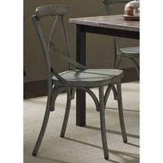 Heavy Distressed Metal X-Back Dining Chair | Overstock.com Shopping - The Best Deals on Dining Chairs
