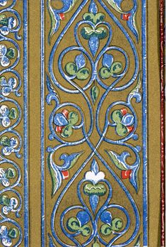 Owen Jones, Plate LXVII (Middle Ages No.2) from 'The Grammar of Ornament'