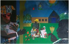 """After Romare Bearden (American, 1911-1988), """"School Bell Time"""", 1996, offset lithograph in colors, ed. 950"""