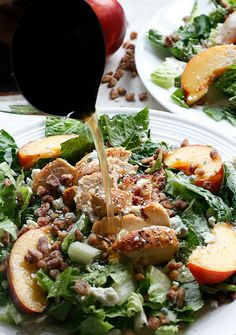 Chicken, Nectarine, and Gorgonzola Salad {Guest Post by Fabtastic Eats}