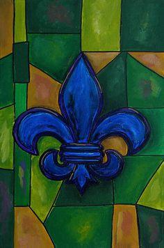 Blue Fleur De Lis Fine Art Print