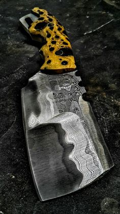 Half Life Knives Duece Cleaver, made from 304 stainless clad Hitachi Blue #2, with chollo cactus furniture...